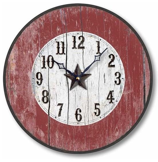 Antique Style Western Clock 10 5 Inch Diameter