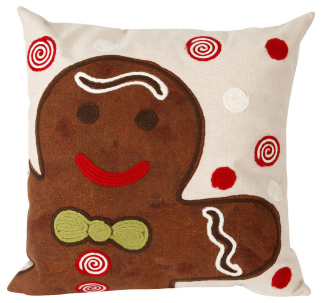 "Visions II Ginger Boy Pillow, Brown, 12""x20"""
