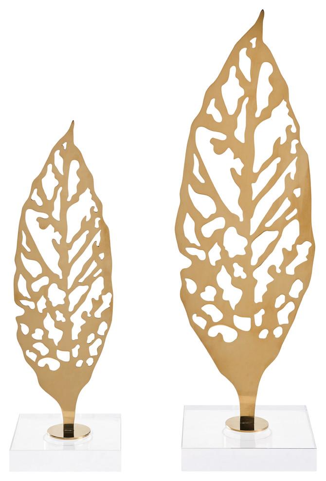 Ginkgo Biloba Leaf on Crystal Base   Finesse Decor