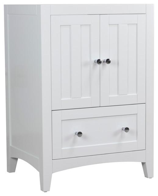 """22.75""""x18"""" Modern Plywood Veneer Vanity Base Only, White."""