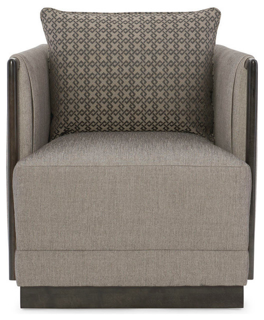 Terrific Modern Uptown Graphie Tweed Barrel Chair Bralicious Painted Fabric Chair Ideas Braliciousco