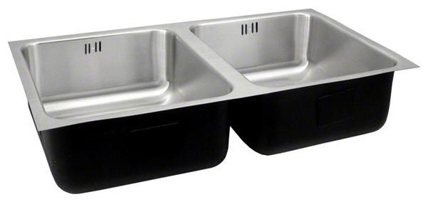 Just Double Bowl Undermount 18x32x12 Outdoor Sink With Integra Flow 18 Gauge.