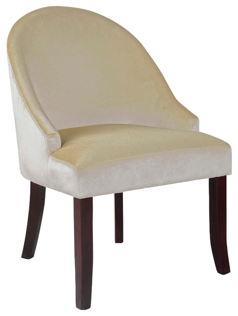 Antonio Accent Chair Soft Cream Velvet Transitional