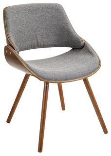 Fabrizzi Mid-Century Modern Counter Chair, Gray