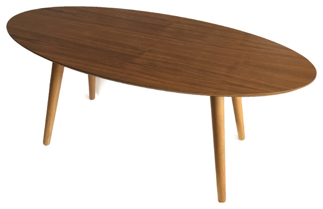 valencia surfboard coffee table - midcentury - coffee tables -