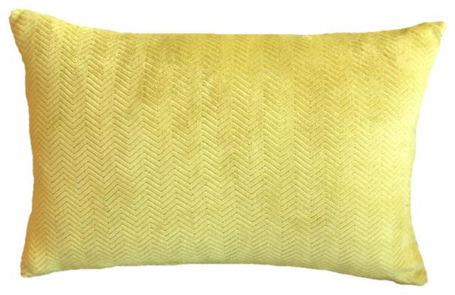 Bright Chartreuse Velvet Chevron Kravet Decorative Lumbar Pillow Enchanting Chartreuse Pillows Decorative