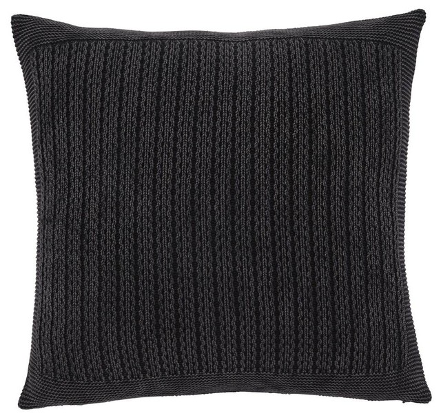 Throw Pillows Charcoal : Pillow Cover in Charcoal, Set of 4 - Contemporary - Decorative Pillows - by ShopLadder