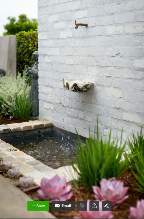 White Brick Fountain