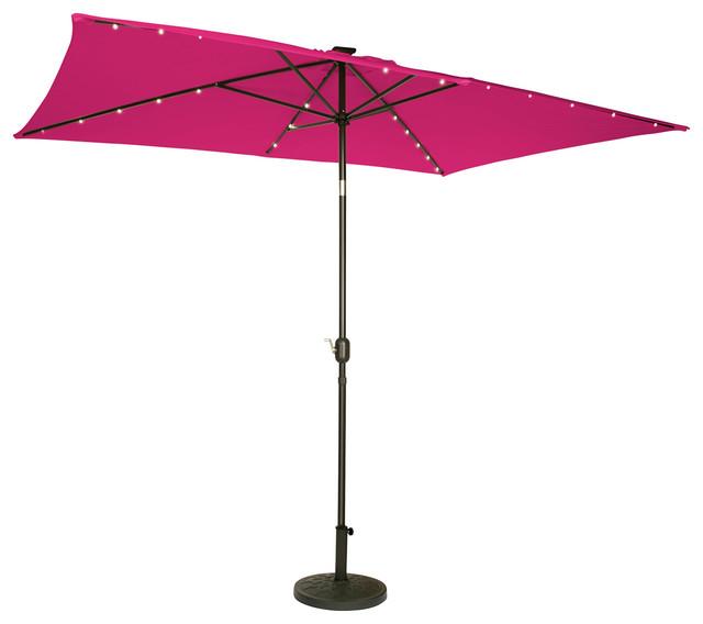 solar powered led lighted patio umbrella 10 39 x6 5 39 outdoor. Black Bedroom Furniture Sets. Home Design Ideas