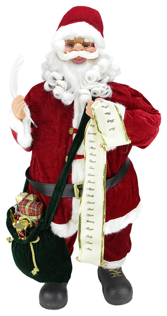 Quot traditional musical animated standing santa claus with