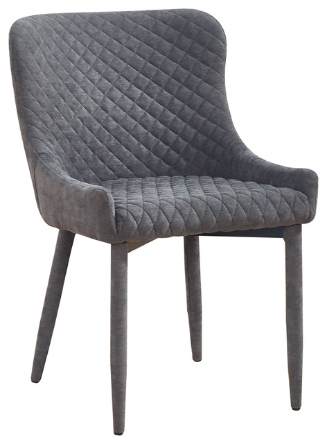 Draco Grey Velvet Chair.