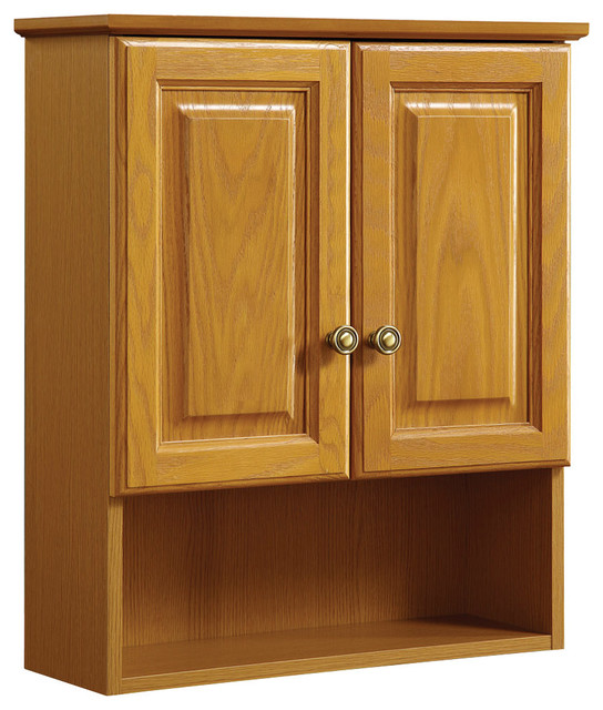 "Claremont 21""x26"" Cab Oak 2 Door Honey Oak Finish - Traditional - Bathroom Cabinets And Shelves ..."