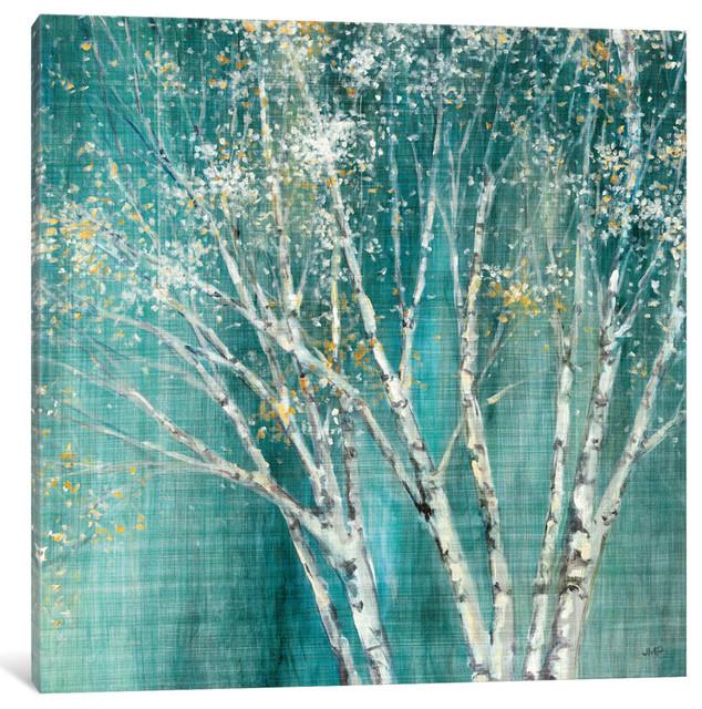 """Blue Birch Gallery"" by Julia Purinton, 37x37x1.5"""
