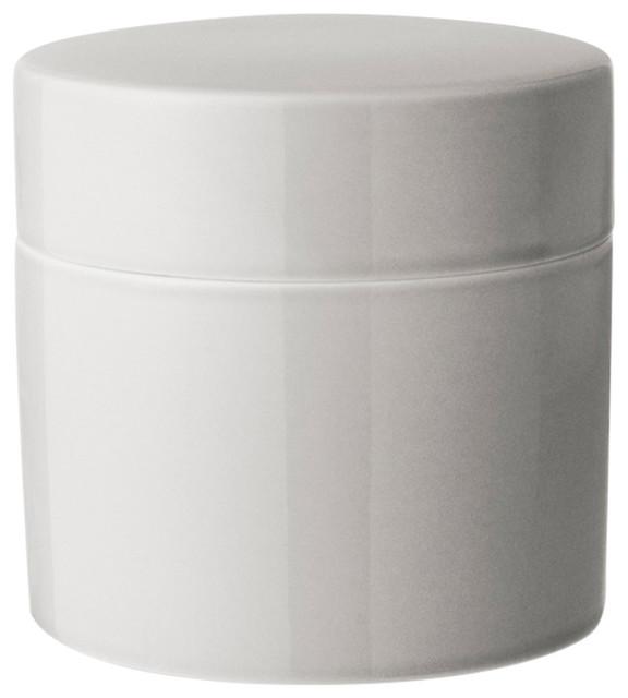Anne Black Contain Jar, High, Concrete, Small