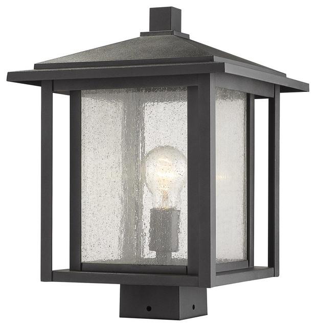 Aspen 1-Light Post Lights And Accessories, Black.
