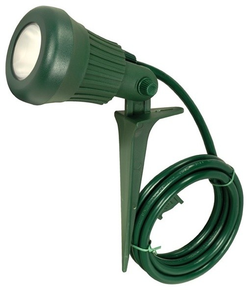 120V 3.4W LED Plastic Flood Lite With Stake And 6