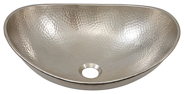 "Giordano Hammered Nickel Sink, 19""."