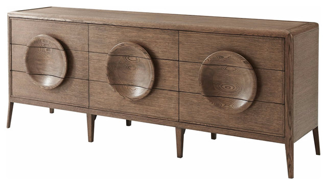 Mid Century Modern Oak Dresser.
