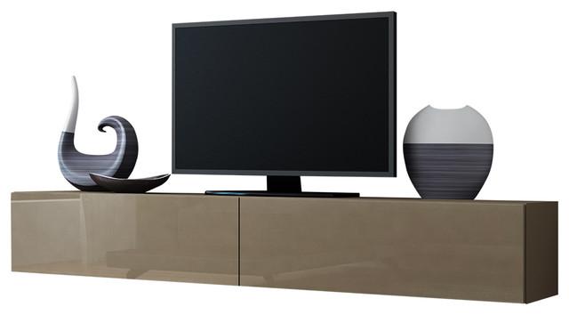 Vigo High Gloss Tv Stand Latte
