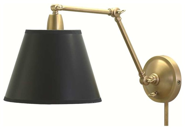 Wall Lights Scandinavian : Library Swing Arm Light/Wall Lamp - Traditional - Swing Arm Wall Lamps - by Lighting New York