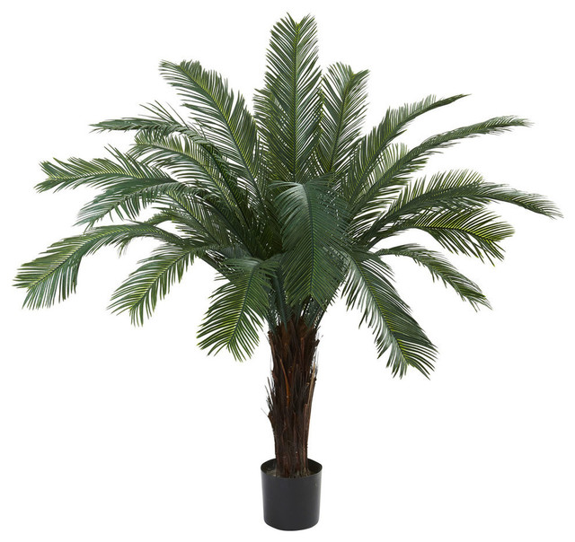 5u0027 Cycas Tree, UV Resistant, Indoor And Outdoor Tropical Artificial Plants