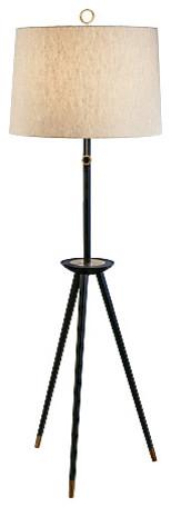 Jonathan Adler Ventana Tripod Floor Lamp, Brass.