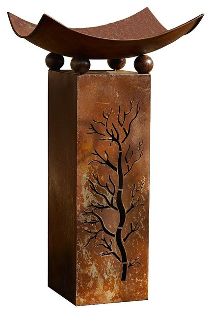 Home Garden Collections Rustic Metal Fire Pillar With