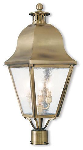 Livex Lighting 3-Light Post-Top Lantern.