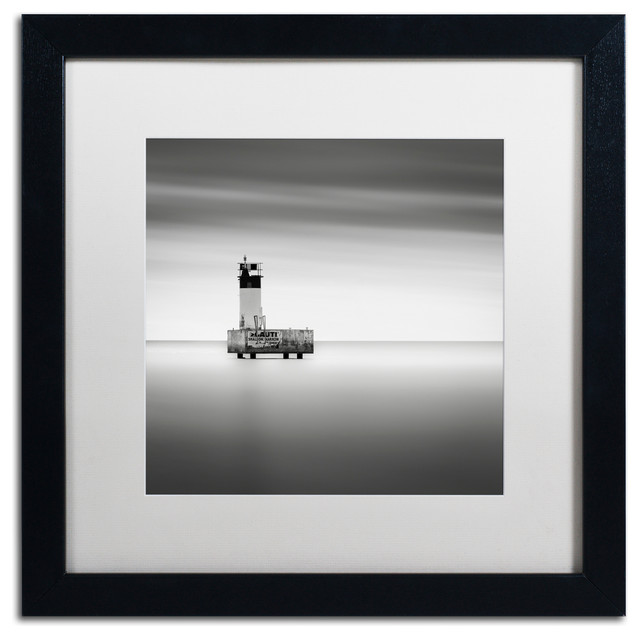 'Warning Sign' Matted Framed Canvas Art by Dave MacVicar