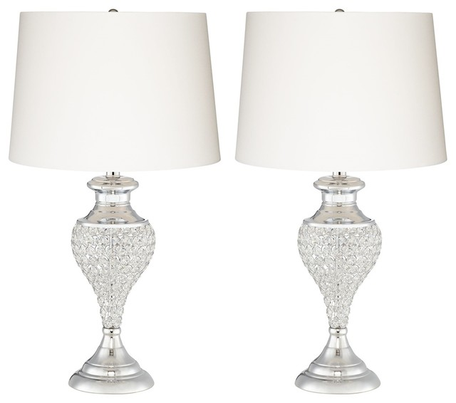 Pacific Coast Glitz and Glam Table Lamps, Set of 2, Polished Chrome  contemporary- - Pacific Coast Glitz And Glam Table Lamps, Set Of 2, Polished