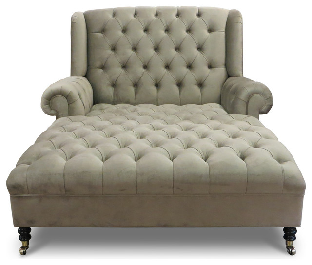 Haute house smith chaise reviews houzz for Chaise indoor lounge