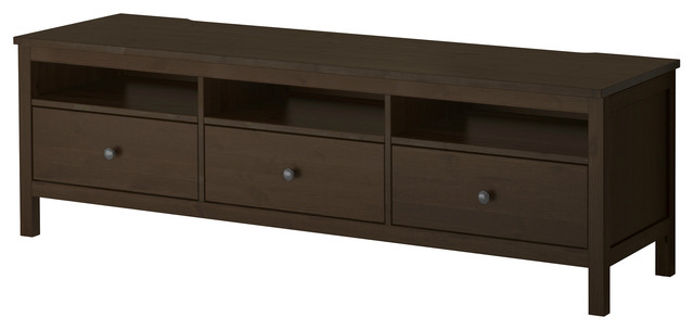 Hemnes TV Unit, Black Brown Contemporary Entertainment Centers And Tv Stands by IKEA