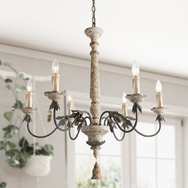 Lnc 6 Light Shabby Chic French Country