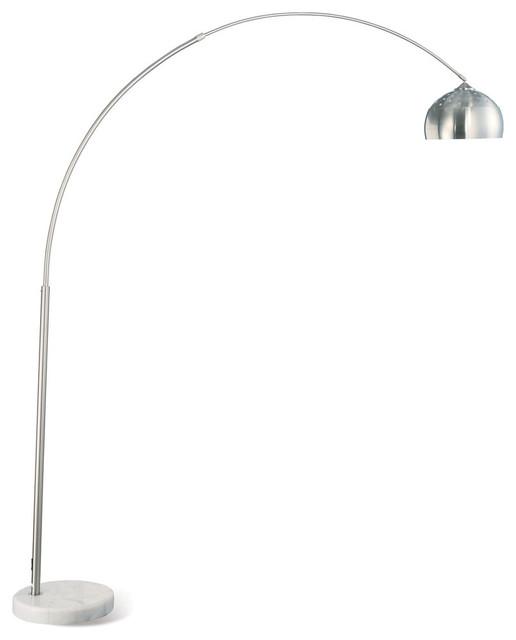 Coaster Floor Lamp, Brushed Steel/Chrome