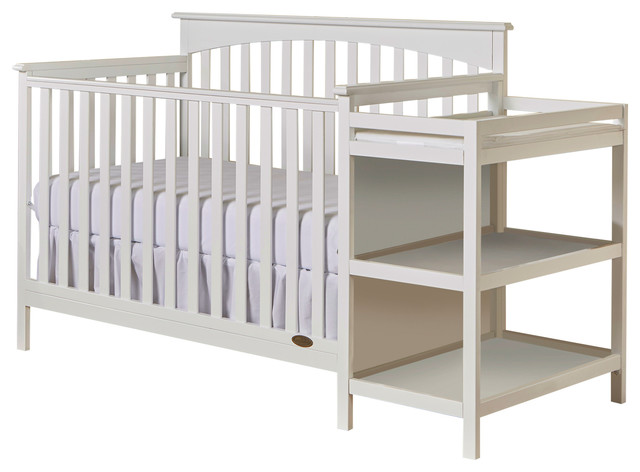 Dream On Me Chloe 5 in 1 Convertible Crib With Changer, White