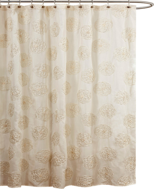 Samantha Ivory Shower Curtain Shower Curtains