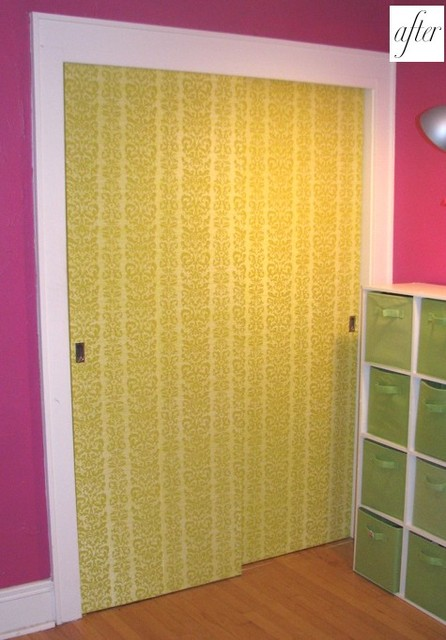 Designsponge wallpaper on closet doors designsponge wallpaper on closet doors eclectic eventshaper