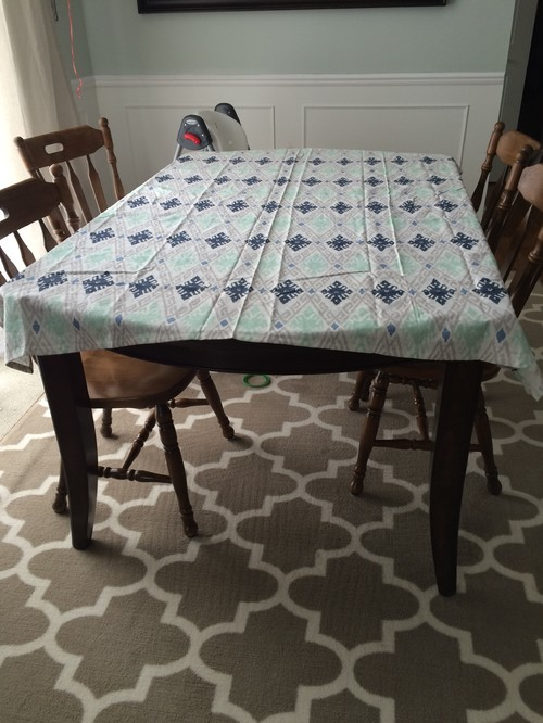 ... Out Tablecloth Right....this Is The 52x70...does It Look Ok Or Too Small?  The Next Size Up Is Huge And With Kids It Gets All Bunched Up Which Is Why  I ...