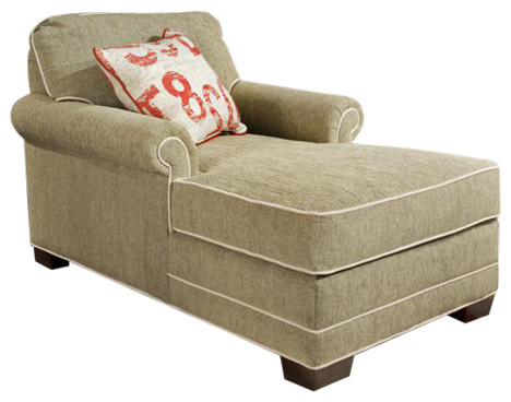 Shop Houzz Chelsea Home Simply Yours 2 Arm Chaise Indoor Chaise Lounge Ch