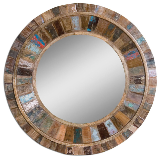 entry mirrors uttermost jeremiah round wood mirror rustic wall mirrors by