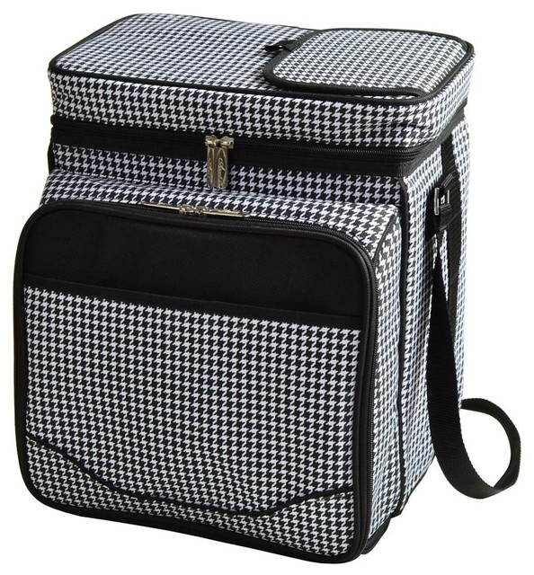 Houndstooth Picnic Cooler For 2.