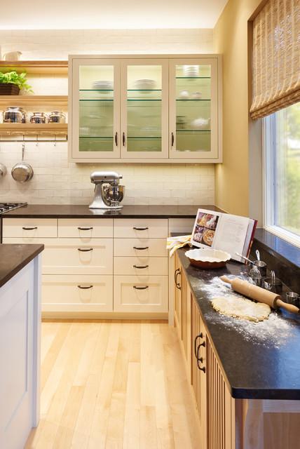 hidden kitchen transitional with - photo #25