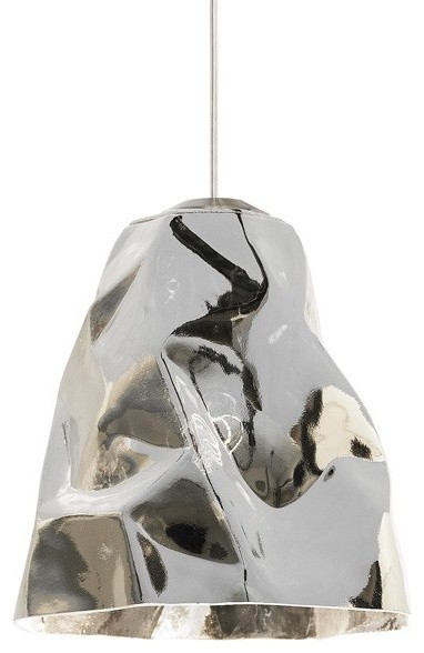 Lbl lighting zuri line voltage pendant silver contemporary pendant lighting