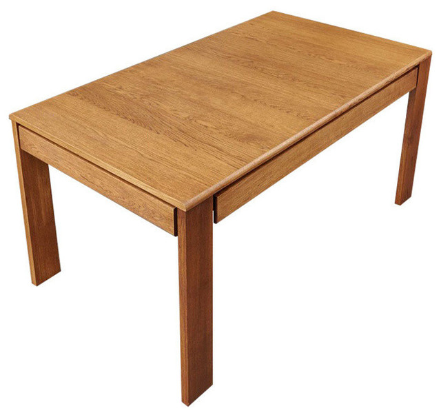 8 Person Olten Oiled Oak Extending Dining Table With Drawers Modern Tables By Lm Furnishings