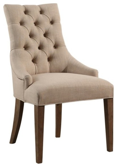 Abbyson Living French Upholstered Dining Chair Wheat Transitional Dining Chairs By Homesquare