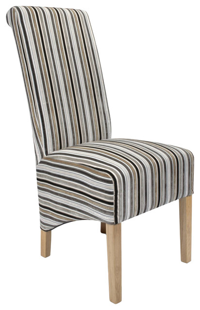 krista jupiter striped dining chairs, set of 2 - traditional