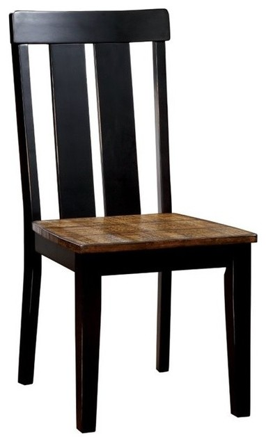 Furniture of America Alana Dining Chairs, Antique Oak, Set of 2 by Furniture of America E-Commerce by Enitial Lab