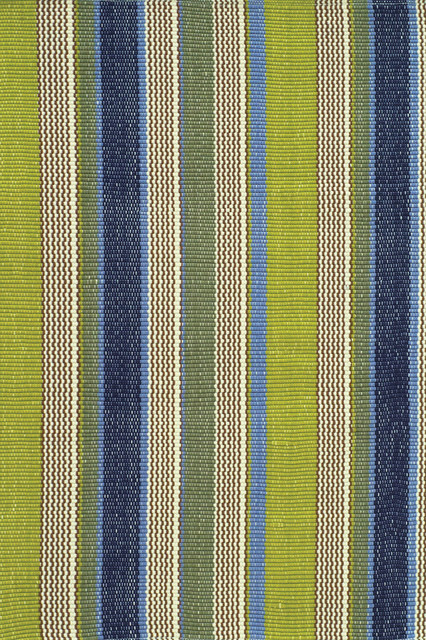 Dash And Albert Marina Stripe Indoor Or Outdoor Rug, 4&x27;x6&x27;.