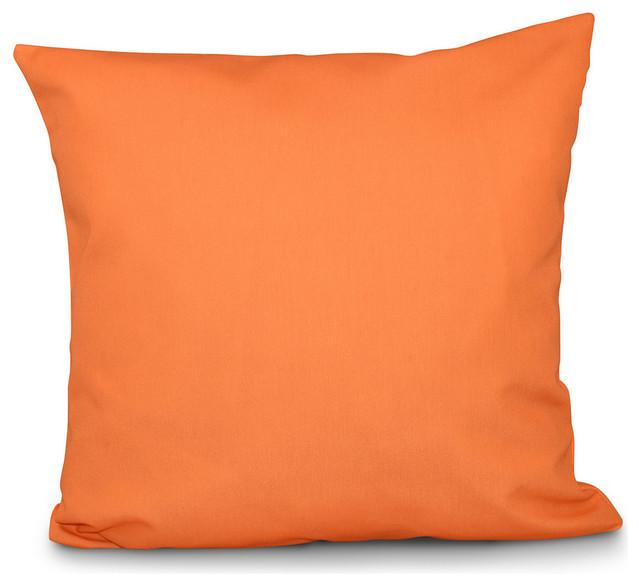 """Solid Color Decorative Pillow, Pumpkin, 16""""x16"""""""