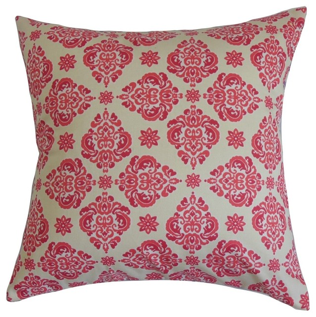 Pink Floral Decorative Pillows : Gershom Floral Pillow Pink - Contemporary - Decorative Pillows - by The Pillow Collection